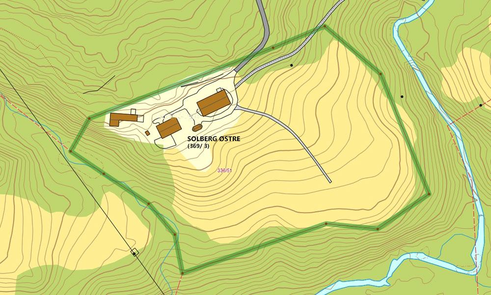 kart gårdsnummer Solberg 1 kart gårdsnummer